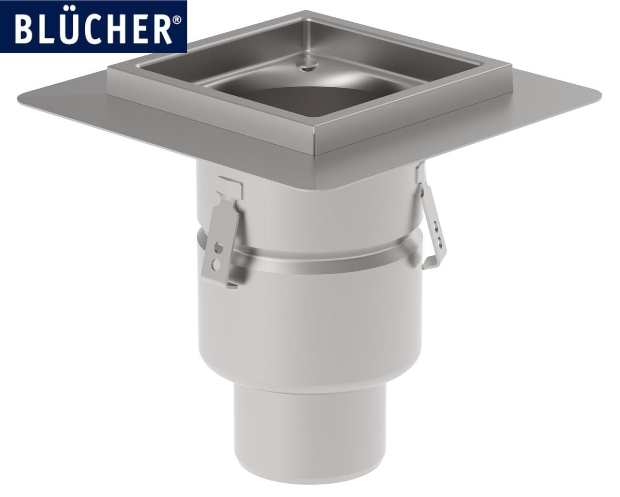 Промисловий трап (для кухні, цеху) Blucher 761.402.110, нержавіюча сталь, вертикальний вихід D110