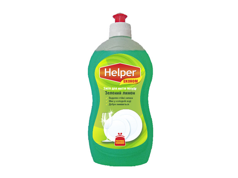 "Средство для мытья посуды ""Helper Eko"" Зеленый Лимон 495мл"