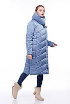 Размеры от 42 до 56 зимнее пальто Стильное для сильных морозов , фото 3