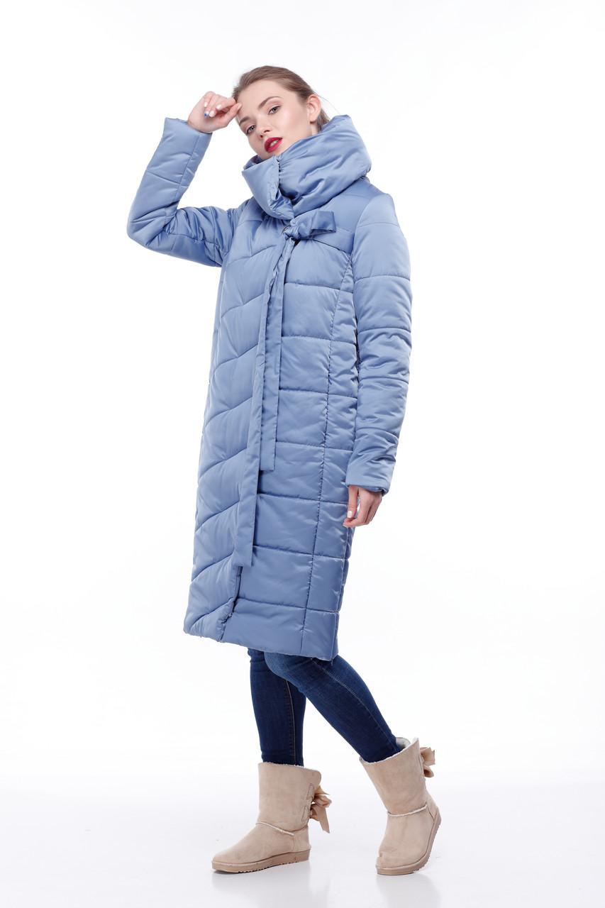 Размеры от 42 до 56 зимнее пальто Стильное для сильных морозов