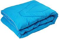 """Одеяло демисезонное силиконовое 200х220 синее чехол микрофибра ТМ """"Руно"""""""