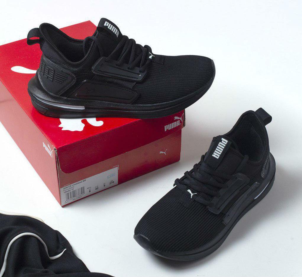 e84a0e8a Puma Ignite Limitless SR Black   кроссовки мужские; летние; черные ...