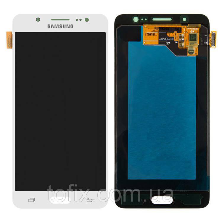 Дисплейный модуль (экран и сенсор) для Samsung Galaxy J5 (2016) J510, белый, оригинал #GH97-19466C