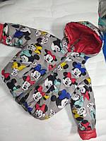 Демисезонная куртка для девочки  Минни маус на 2 года