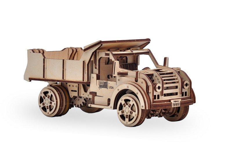 3D деревянный сборный механический конструктор Wood Trick Грузовик