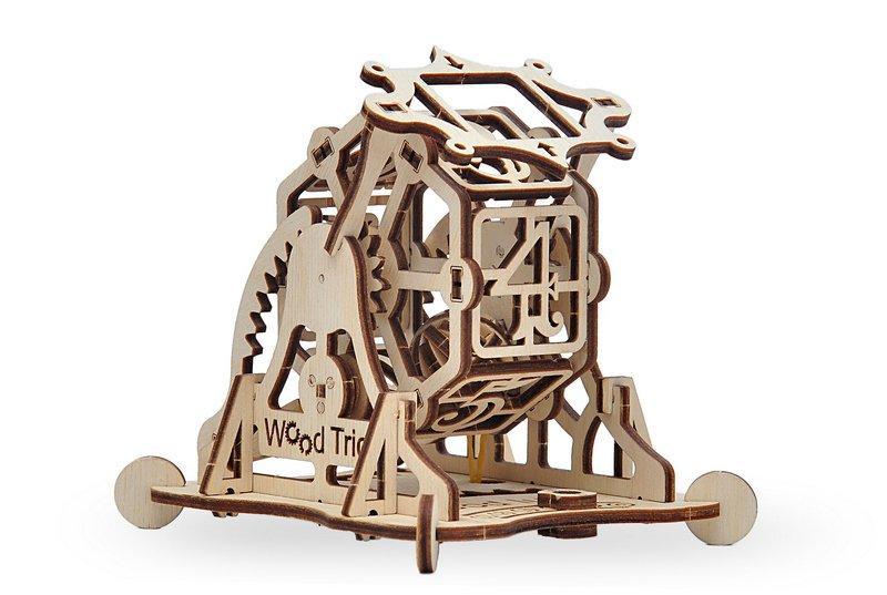 3D деревянный сборный механический конструктор Wood Trick Колесо фортуны