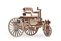 3D деревянный сборный механический конструктор Wood Trick Первый автомобиль