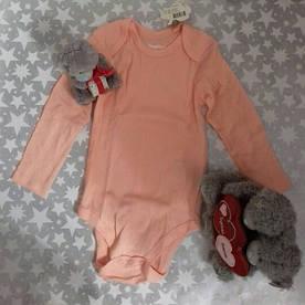 Боди для девочки персиковый Lupilu Pure Collection р.86/92