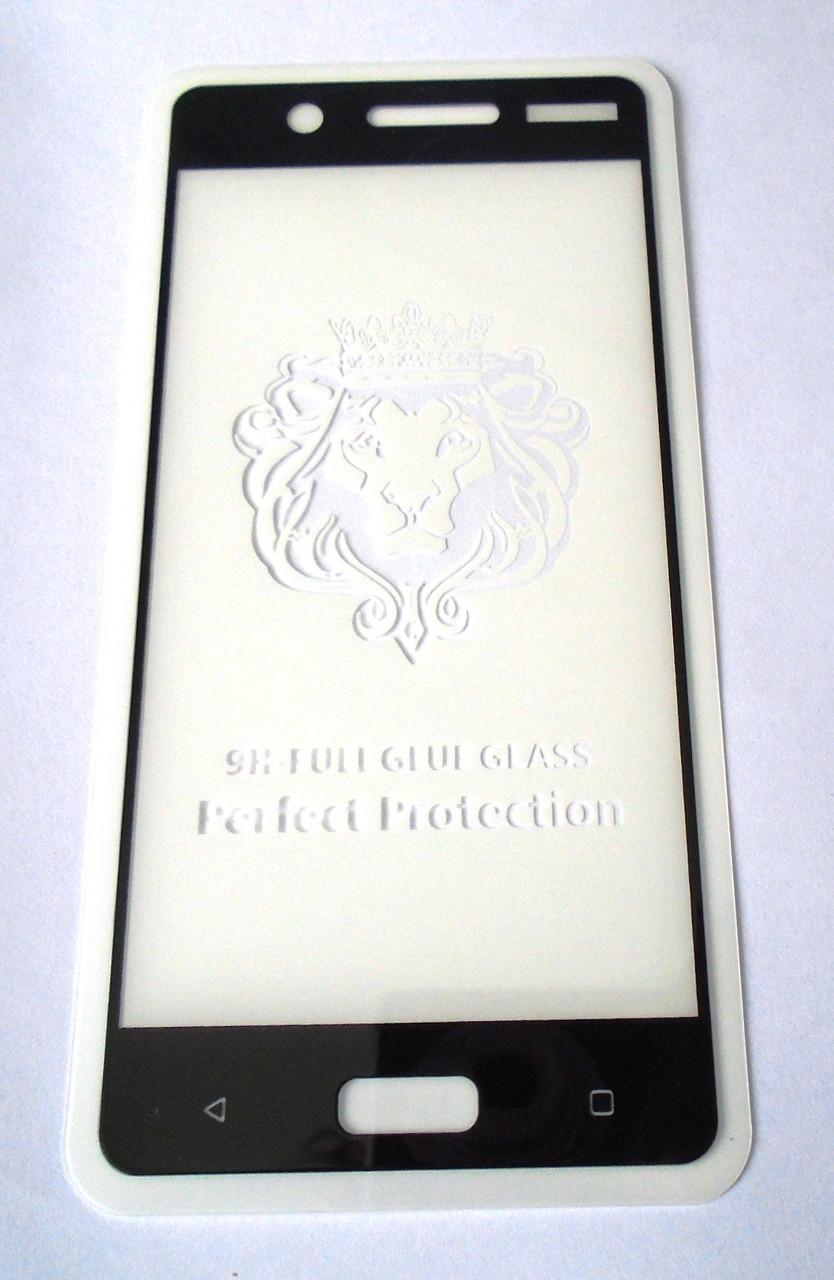 Полноекранное ащитное стекло Nokia 5 Black 5D full Screen клей по всей поверхности