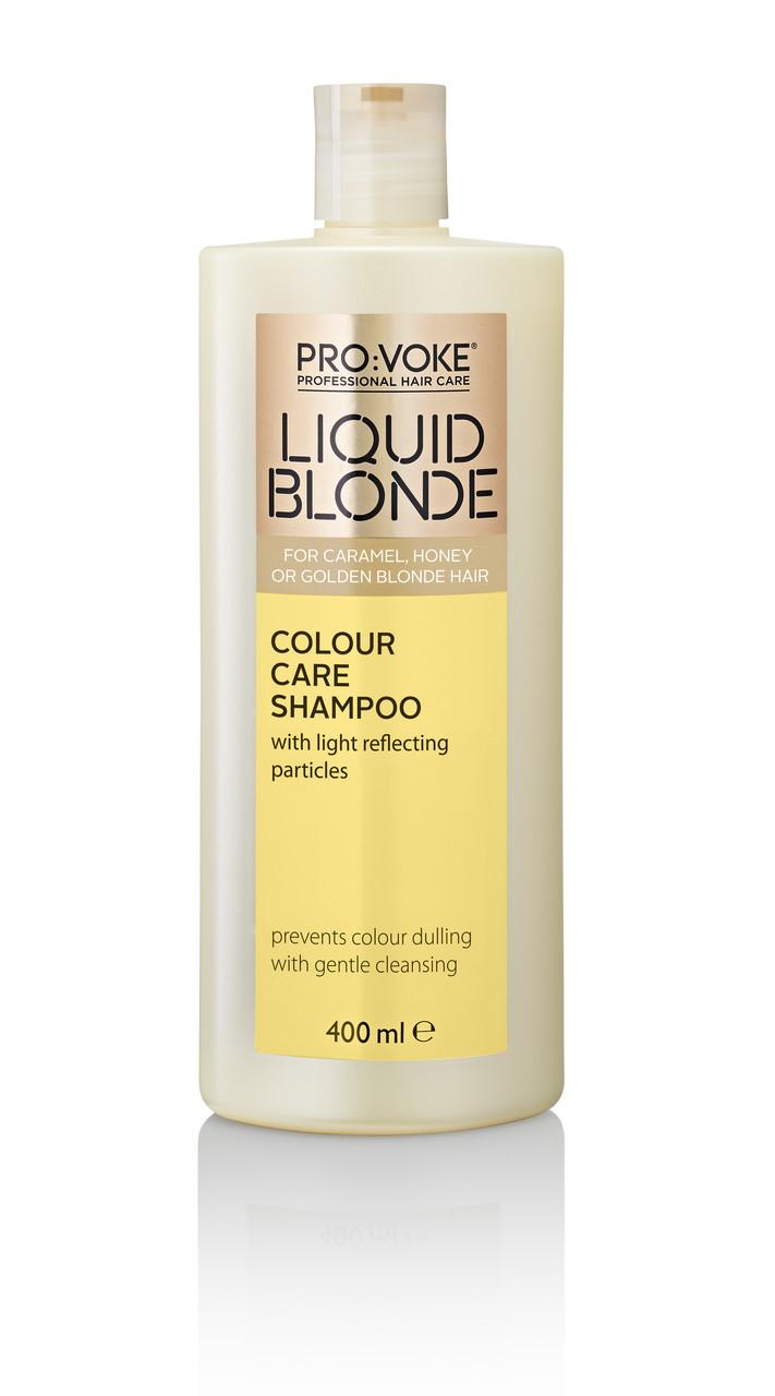 Шампунь для волос c формулой защиты цвета (теплый золотистый) PRO:VOKE Liquid Blonde Colour Care Shampoo 400ml