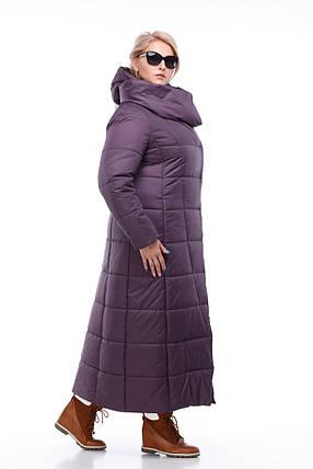 3d8d912d3bcb6 Размер 42 -56 Женская сливовая зимняя куртка-пуховик пальто на морозы  высокого качества,