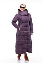 Размер 42 -56! Женское зимнее пальто на сильные морозы длина 124 см!, фото 3