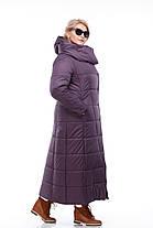 Размер 42 -56! Женское зимнее пальто на сильные морозы длина 124 см!, фото 2