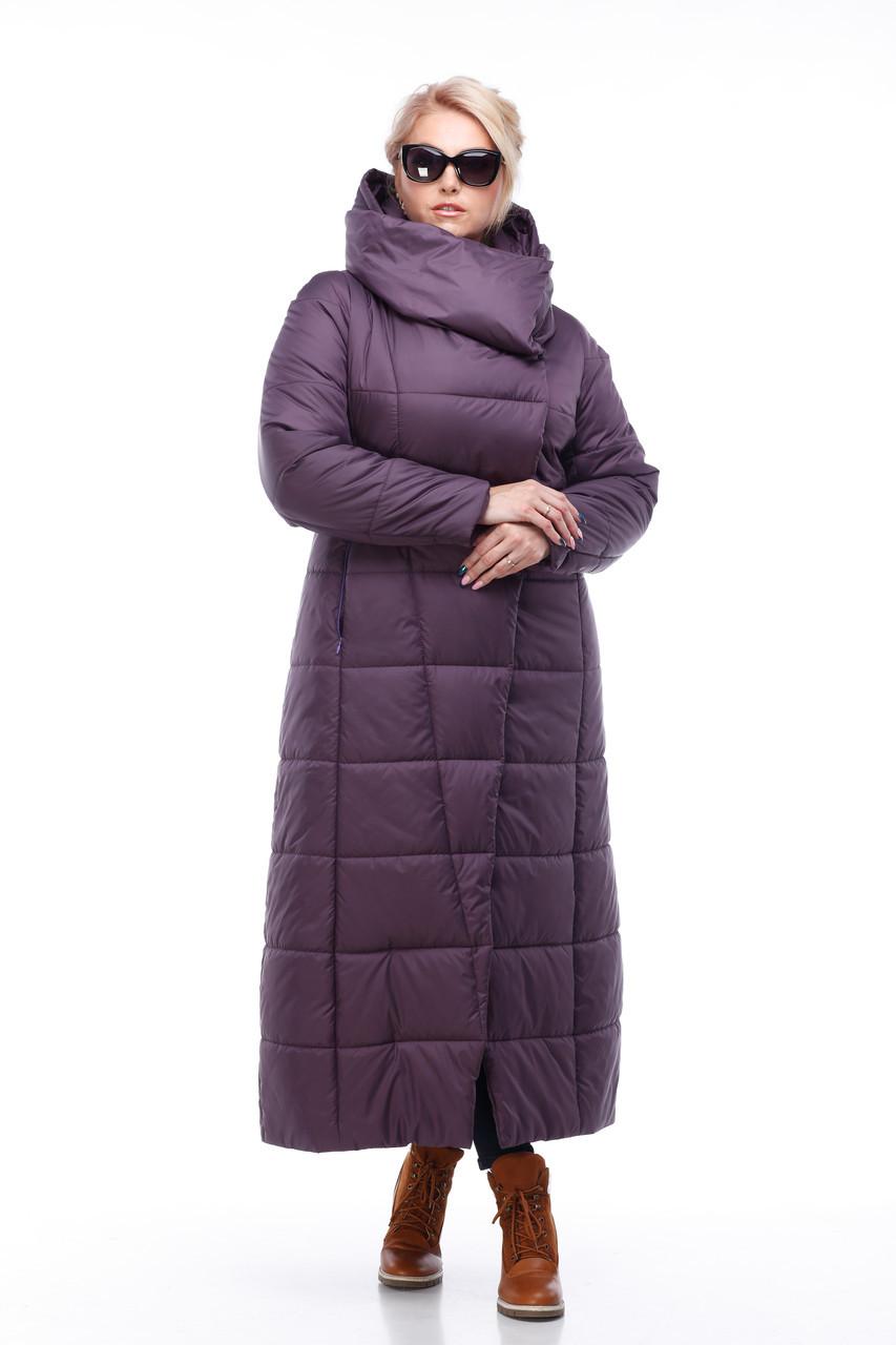Размер 42 -56! Женское зимнее пальто на сильные морозы длина 124 см!