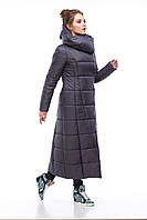 Размеры от 42 до 56  зимнее стильное стеганое пальто длина 124 см