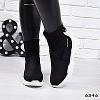 Кроссовки женские Bebs черные , женская обувь