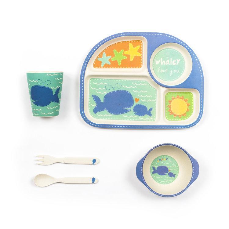 """Детский набор эко-посуды из бамбукового волокна """"Китёнок"""""""