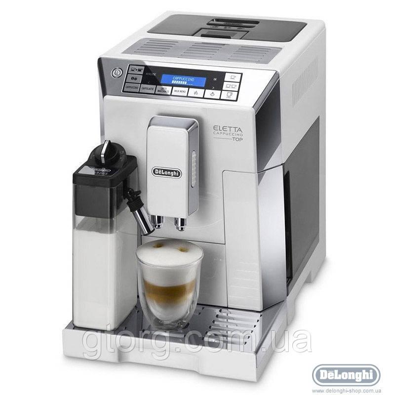 АВТОМАТИЧЕСКАЯ КОФЕМАШИНА DELONGHI ECAM 45.764 W Eletta Cappuccino Top