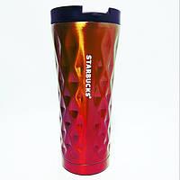✅Термокружка Starbucks Старбакс Градиент EL-276 500 ml Золото/карамелью