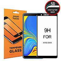 5D стекло для Samsung Galaxy A7 2018 Black Premium Smart Boss™ Черное - Изогнутые края