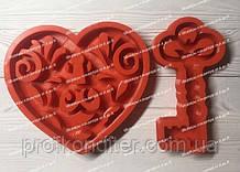 ЭКСКЛЮЗИВ! Набор силиконовых молдов для выпечки пряника Сердце с ключиком ЗД