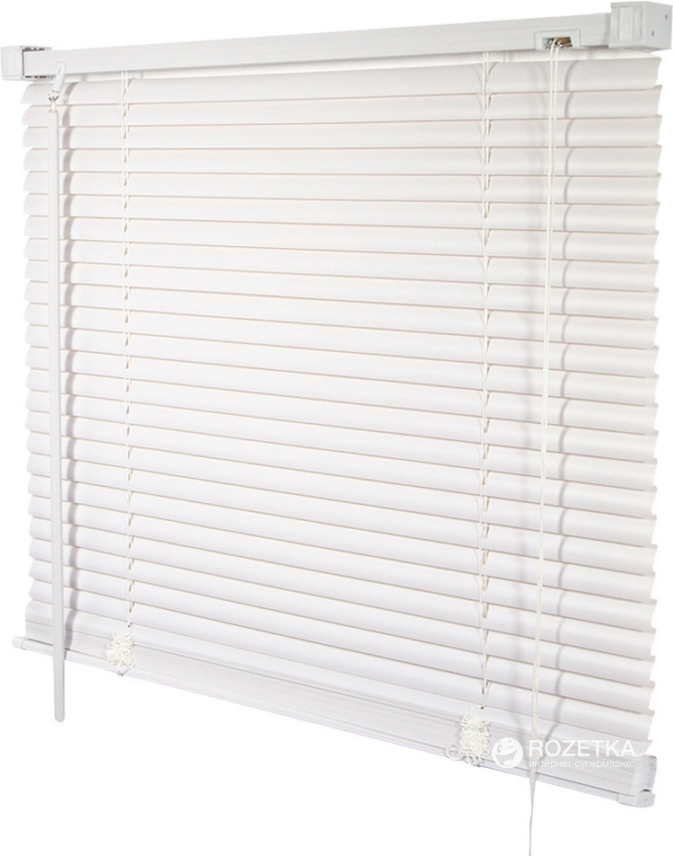 85х140см горизонтальные белые пластиковые жалюзи