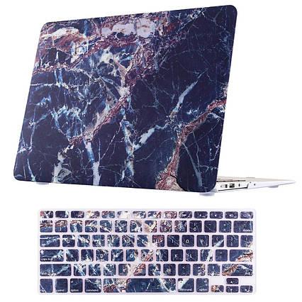 Чехол для MacBook Air 13.3 ( A1369 A1466) пластиковый фиолетовый, фото 2