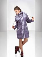 Стильная детская стеганная  курточка на девочку