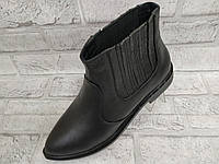 Ботинки для девочек демисезонные кожаные