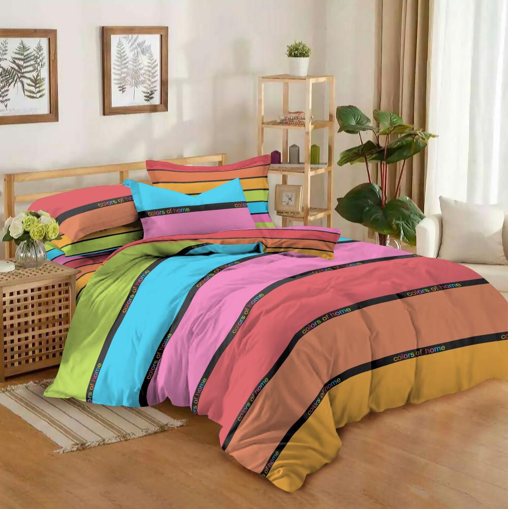 Полуторный комплект постельного белья 150*220 сатин (10545) TM КРИСПОЛ Украина