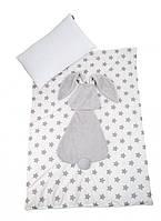 Плед подушка Twins Кролик 120х90 grey
