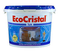 Водоэмульсионная латексная интерьерная краска с повышенной стойкостью к мытью Люкс ИР-233.