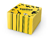 "Салфетки бумажные столовые ""ZooZoo"" 24х23, 1 слой, 100 шт, желтые"