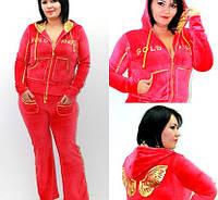 Спортивный костюм Ангел, велюровый красный Penye Mood, спортивный костюм для активного отдыха, женский костюм