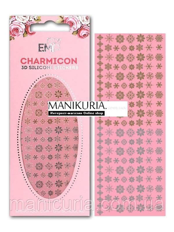 """Charmicon E.MI 3D Silicone Stickers """"Снежинки"""" №1"""