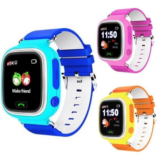 Оригинальные детские часы Q90 Smart Baby Watch (телефон,микрофон, датчик снятия)