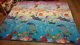 Теплый детский коврик развивающий Море и англ. алфавит. Большой, фото 5