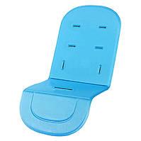 Матрасик - вкладыш в коляску, автокресло, стульчик для кормления. Мягкий коврик, голубой.