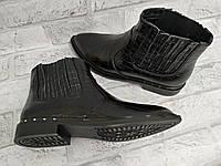 Кожаные детские ботинки для девочек демисезонные
