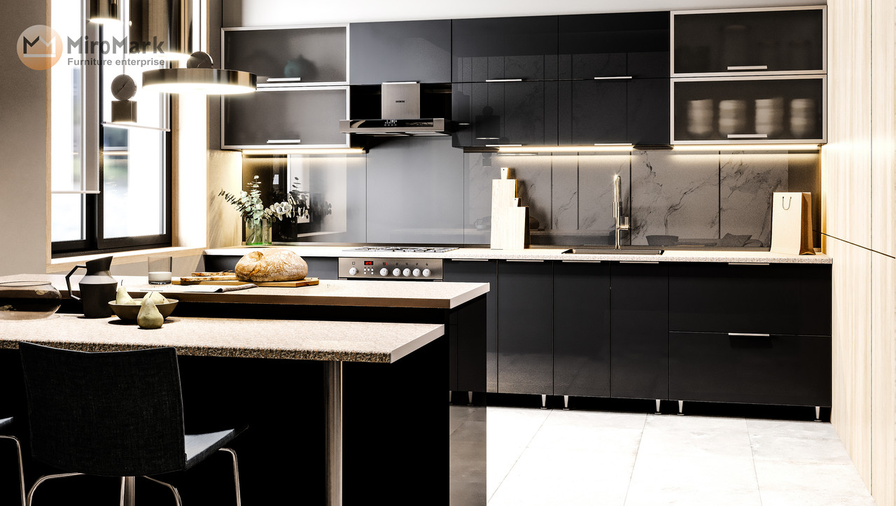 Модульная кухня Orlando Глянец черный