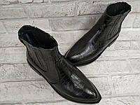 Кожаные подростковые ботинки для девочек демисезонные, фото 1