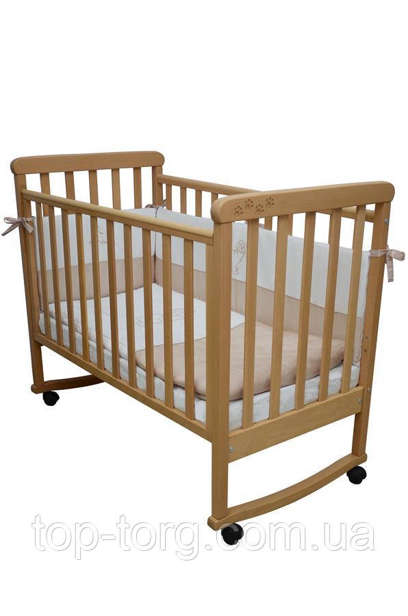 """Ліжко дитяче """"Соня ЛД12"""" бук, Veres"""