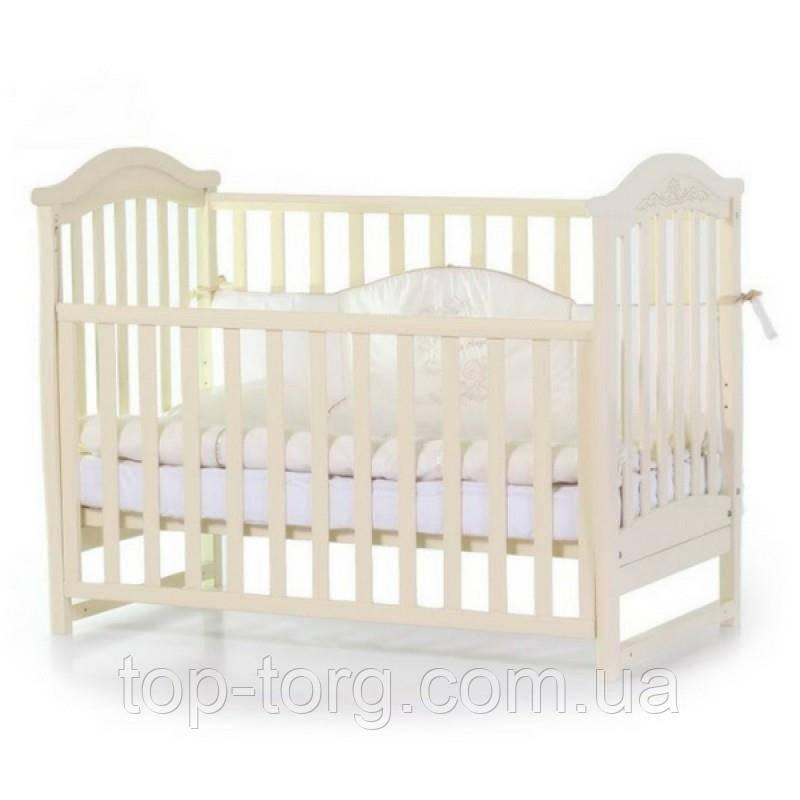 """Ліжко дитяче """"Соня ЛД3"""" слонова кістка, Veres"""