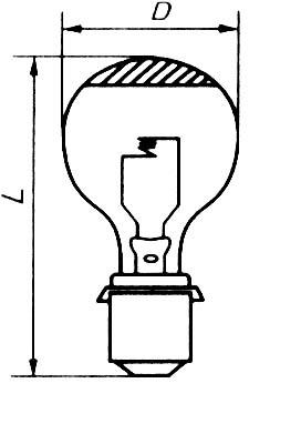 Лампа прожекторная дзеркальна 24v - 500w NARVA P40s/41