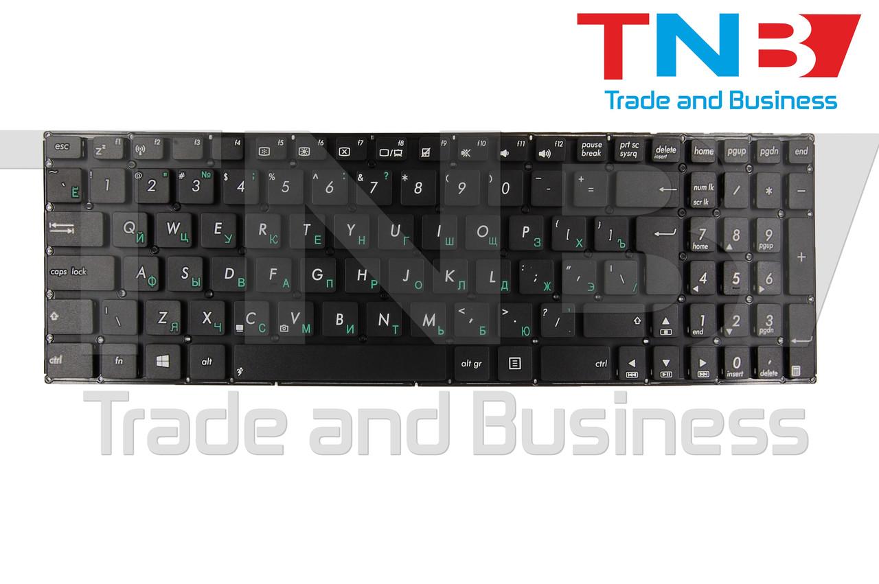 Клавиатура Asus X550 черная без рамки ВЕРТИКАЛЬНЫЙ ENTER RUUS