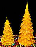 """Новорічна воскова свічка """"Ялиночка"""" з натурального бджолиного воску, фото 5"""