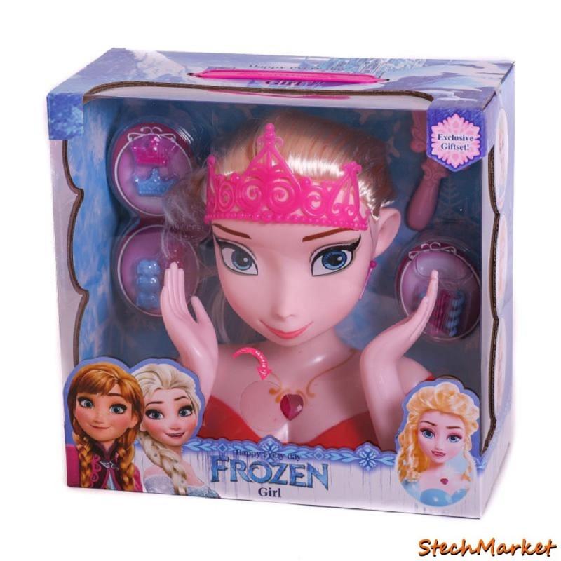"""Кукла голова для причесок и макияжа """"Frozen"""" 2 вида"""