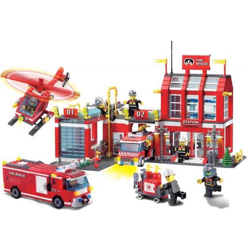 """Конструктор """"Пожарная охрана"""" Brick 911 980 деталей"""
