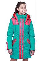 Качественная детская куртка для девочки в ярком цвете