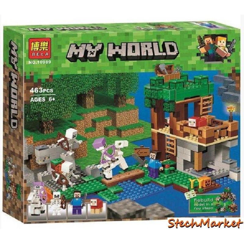 """Конструктор """"Нападение армии скелетов"""" Bela Minecraft 10989 463 детали"""